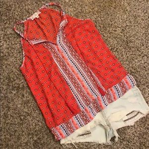 Pink Republic Tops - Red Boho Tank Top